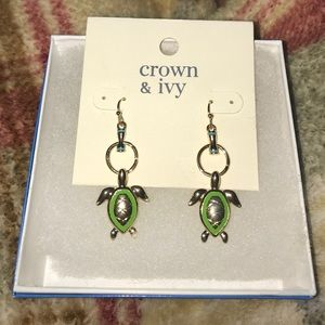 Crown and Ivy Drop Earrings